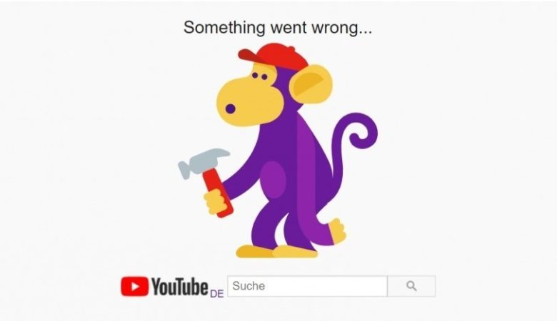 Authenticated Google users only saw error messages like this one from Youtube when the failure occurred.