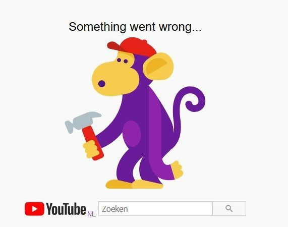 YouTube malfunction