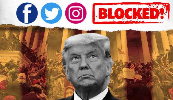 Twitter, Facebook, Instagram blocked Donald Trump's accounts after Capitol  Hill violence | US Capitol Hill violence: फेसबुक, इंस्टाग्राम और Twitter ने  ट्रंप के अकाउंट ब्लॉक किए, परमानेंट बंद करने ...
