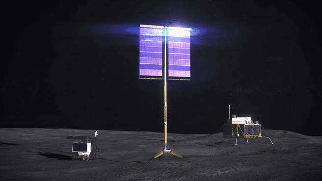 NASA solar panels for the moon
