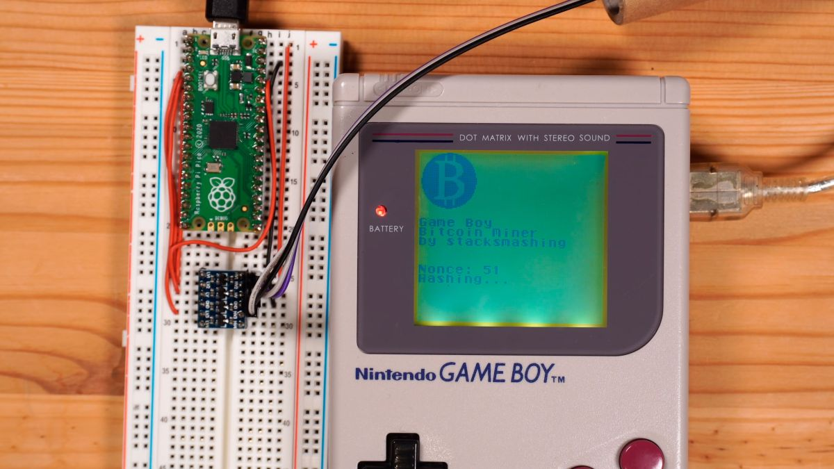 Forget GPUs! Mine Bitcoin With Game Boy + Raspberry Pi Pico | Tom's Hardware
