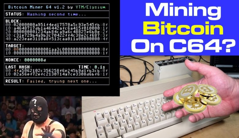 YouTuber Commodore 64 is used for bitcoin-mining-geeks