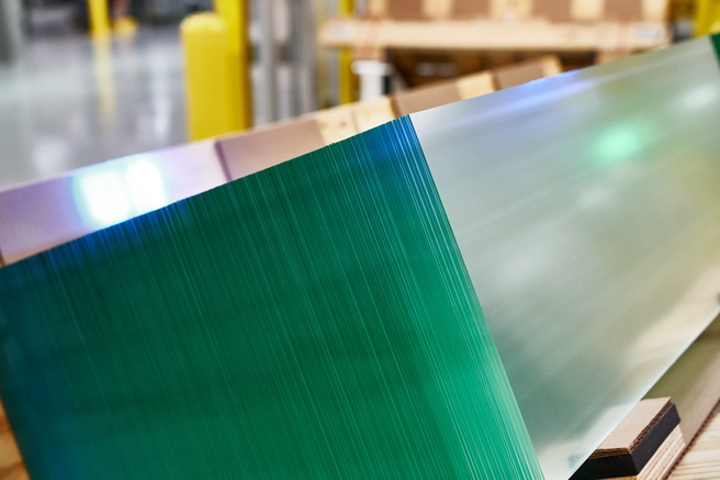 Glass at Corning factory