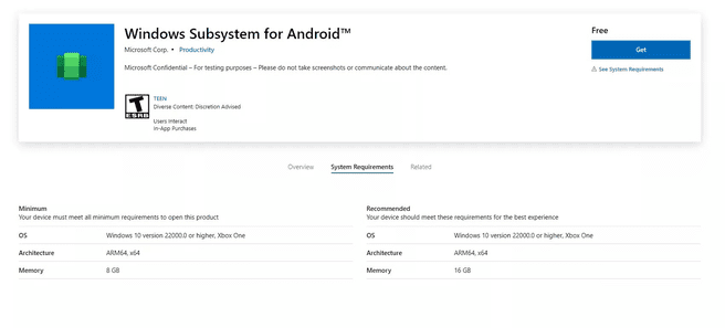 Windows Subsystem Android on Xbox